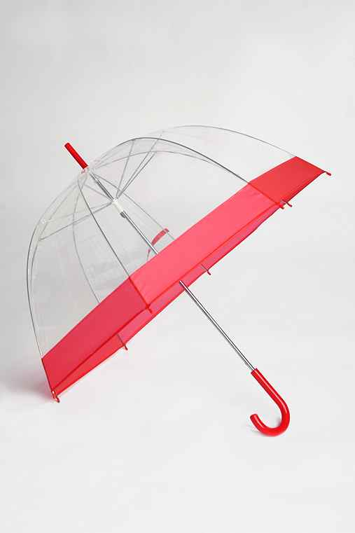 Clear Bubble Umbrella :  rain weather proof rain gear clear umbrella
