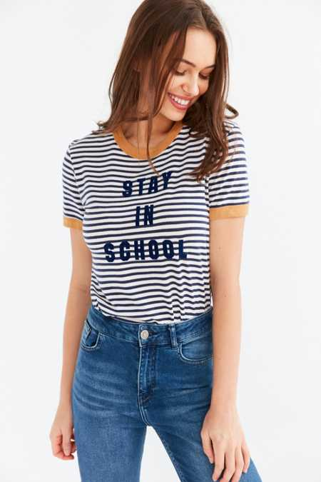 Truly Madly Deeply Stay In School Ringer Tee