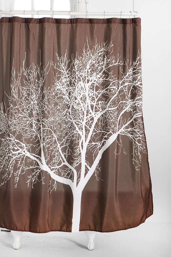 tree shower curtain urban outfitters. Black Bedroom Furniture Sets. Home Design Ideas