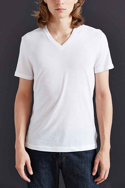 BDG Slim-Fit Cotton V-Neck Tee