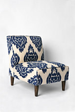 Ikat Slipper Chair - Indigo