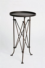 Metal Accordian Side Table