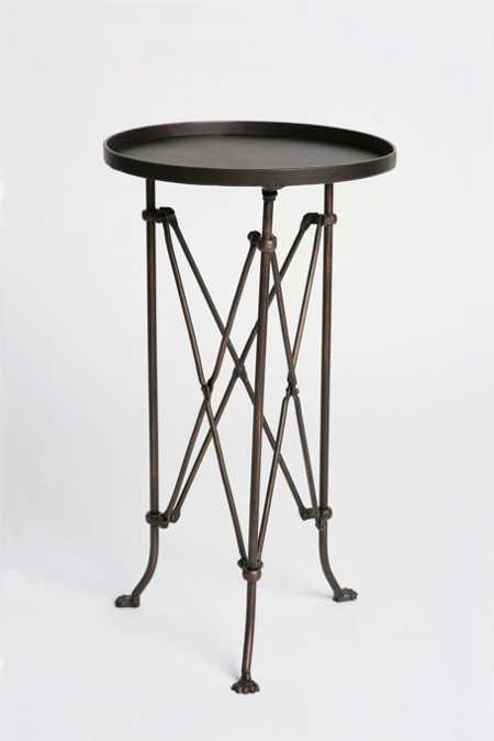 Metal Accordion Side Table
