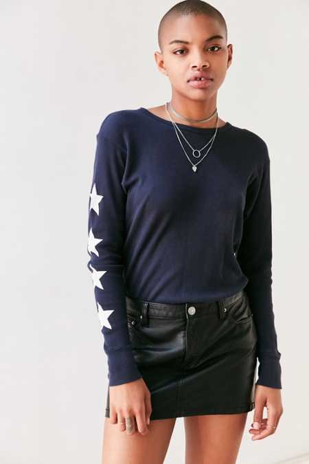 Truly Madly Deeply Starry Long-Sleeve Thermal Tee
