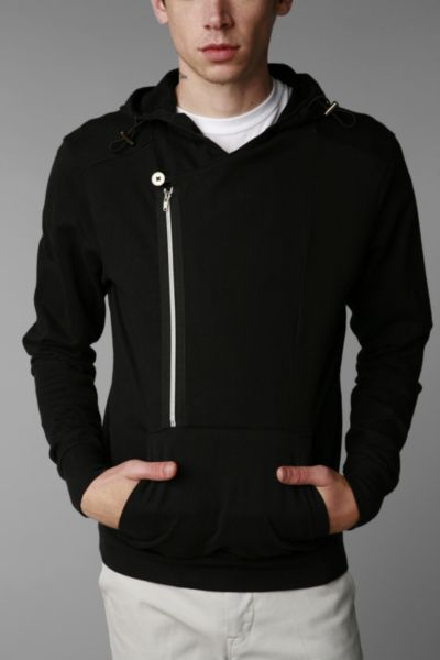 Standard Cloth Asymmetrical Pullover Hoodie