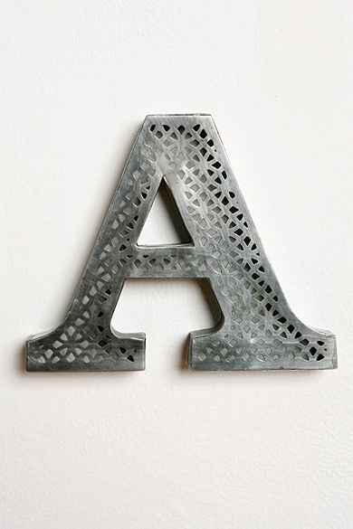 Acid Etched Letter