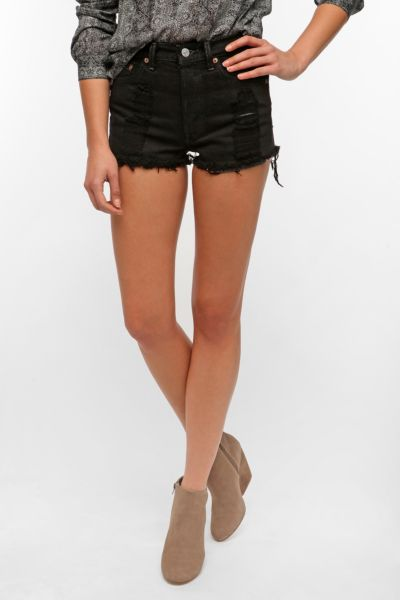 Urban Renewal Overdyed Cutoff Short - Black