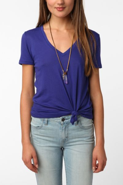 BDG Sheer V-Neck Tee