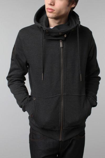 Snap Neck Pullover Hoodie Sweatshirt
