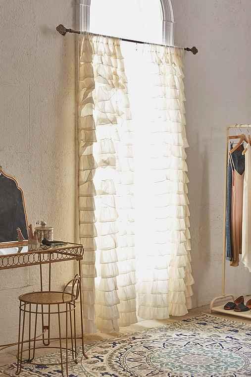 UrbanOutfitters.com > Waterfall Ruffle Curtain