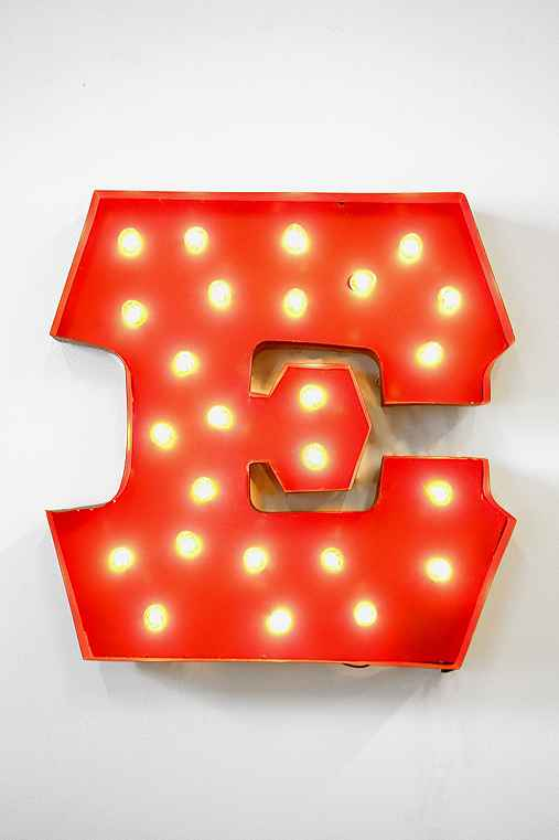 Marquee Alphabet Lights :  home wall art lighting decor