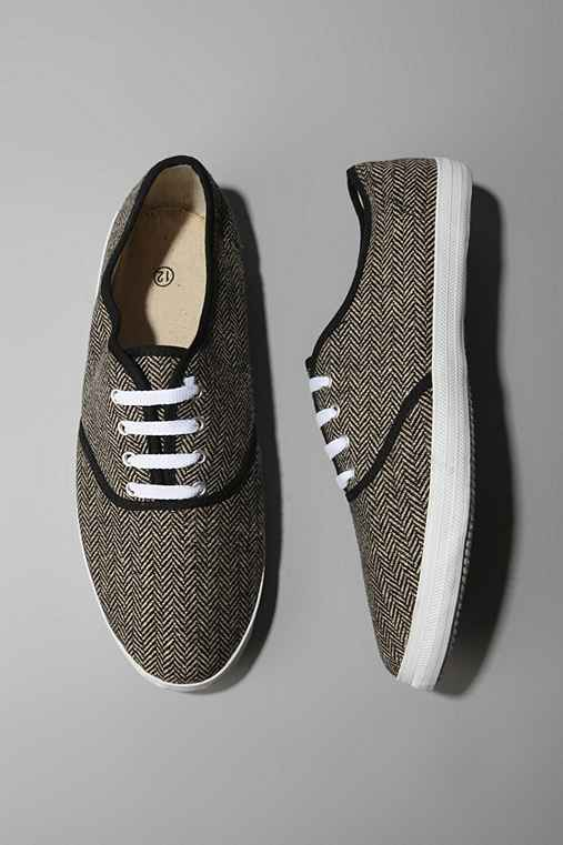 UrbanOutfitters.com- UO Grey Tweed Plimsoll :  shopping plimsoll deck shoes tweed