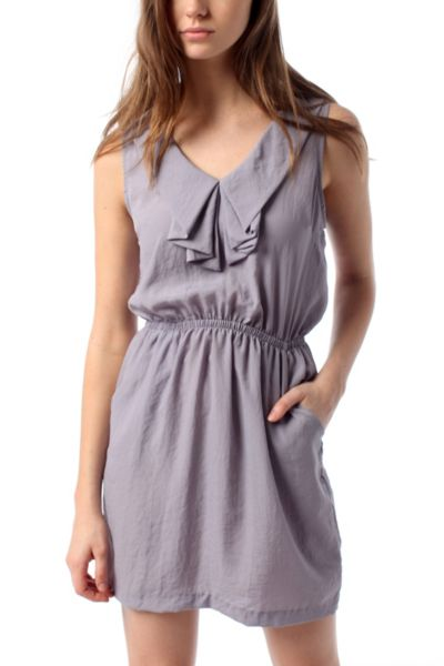 Silence & Noise Ruffled Silky Dress