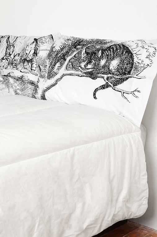 Alice Tea Party Pillowcase Set - Urban Outfitters :  pillow case pillows dorm teen