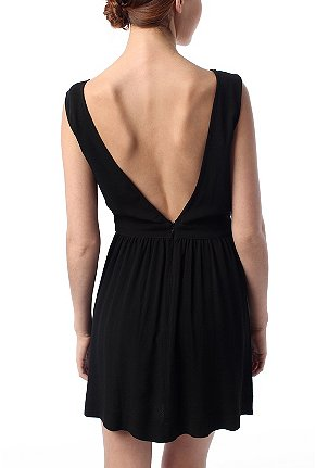 UrbanOutfitters.com > Silence & Noise Crepe V-Back Dress - UrbanOutfitters.com > Official Site of Urban Outfitters > Shop Women's, Men's and Apartment :  spring rayon zipper clothing