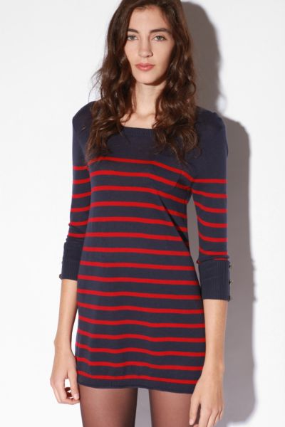 BDG 3/4 Sleeve Striped Tunic