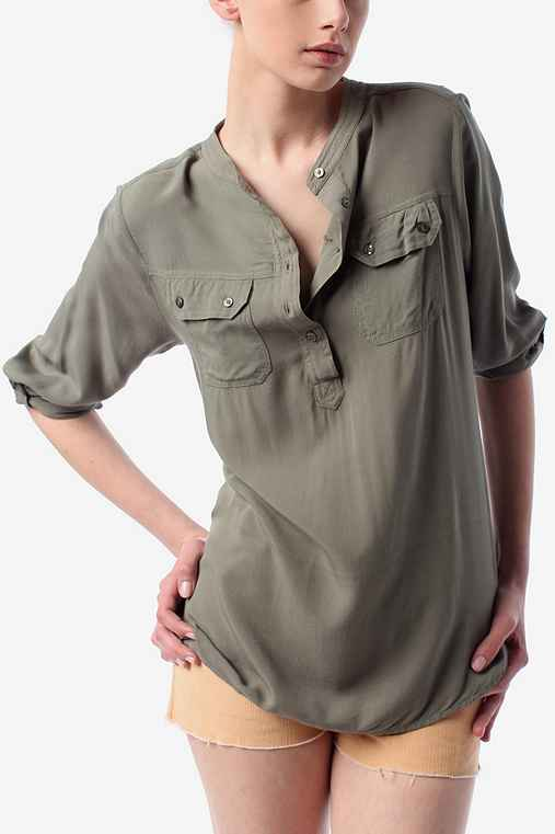 Staring at Stars Henley Tunic :  chic tunic casual lounge
