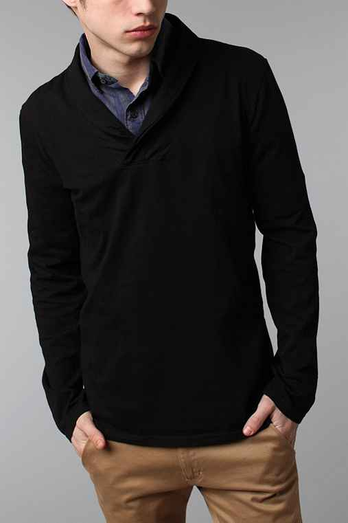 BDG Knit Shawl Pullover Shirt