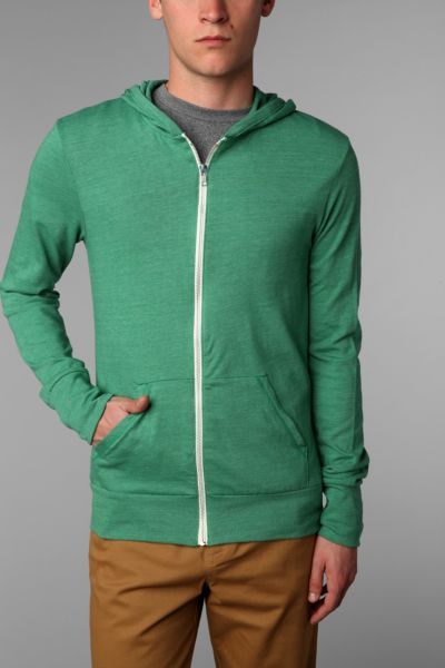 ALTERNATIVE Eco Triblend Zip-Up Hooded Sweatshirt