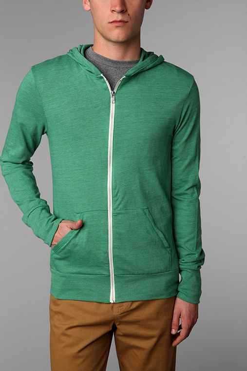 ALTERNATIVE Eco Triblend Zip-Up Hoodie Sweatshirt