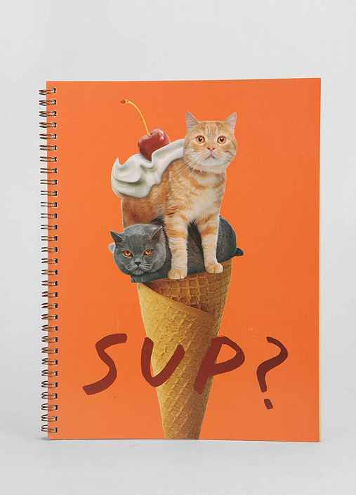 Cat Sup Spiral Notebook