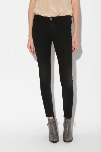 Silence & Noise Crinkle Denim Legging - Black