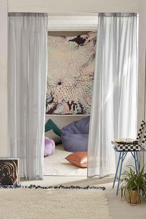 Chloe Gauze Curtain,GREY,52X96