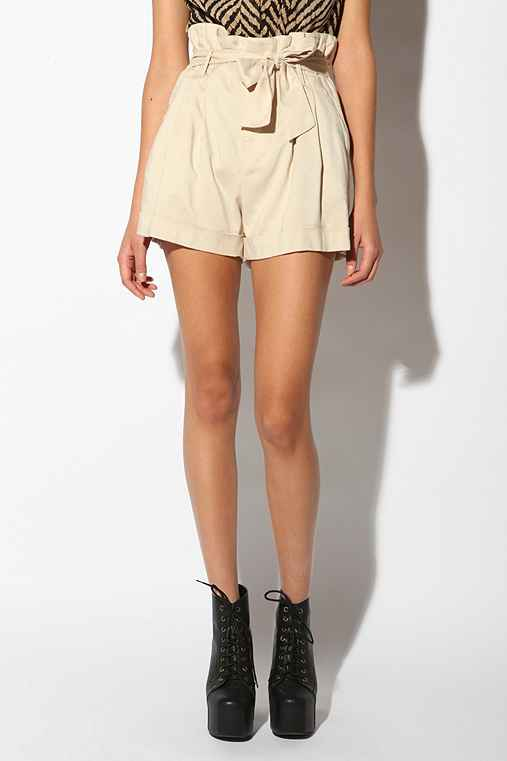 Sparkle & Fade - Paperbag Short :  shorts urban outfitters womens shorts sparkle and fade