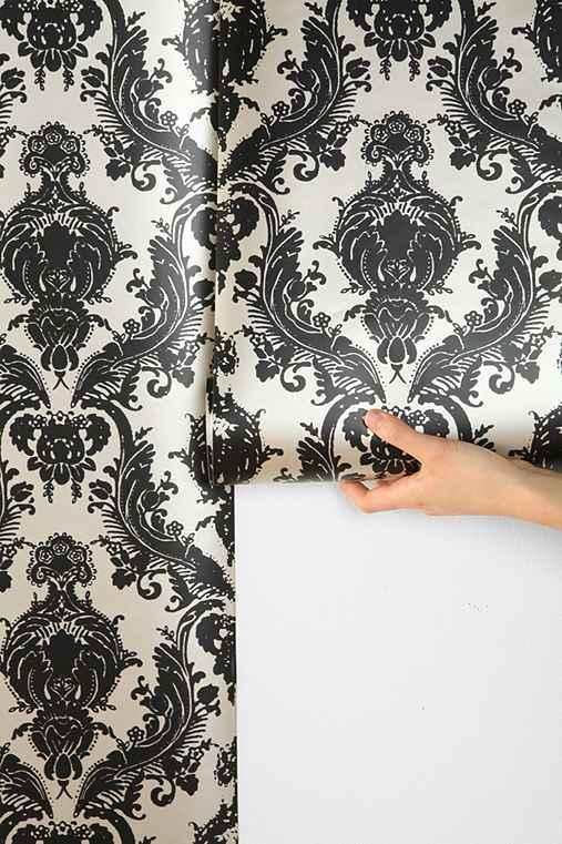 damsel wallpaper black. Black Bedroom Furniture Sets. Home Design Ideas