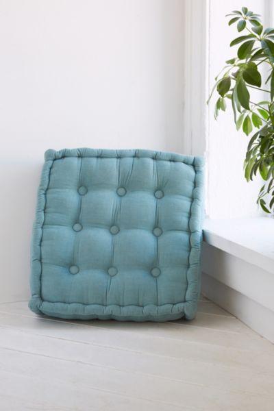 Floor Pillows Tufted : Tufted Corduroy Floor Pillow