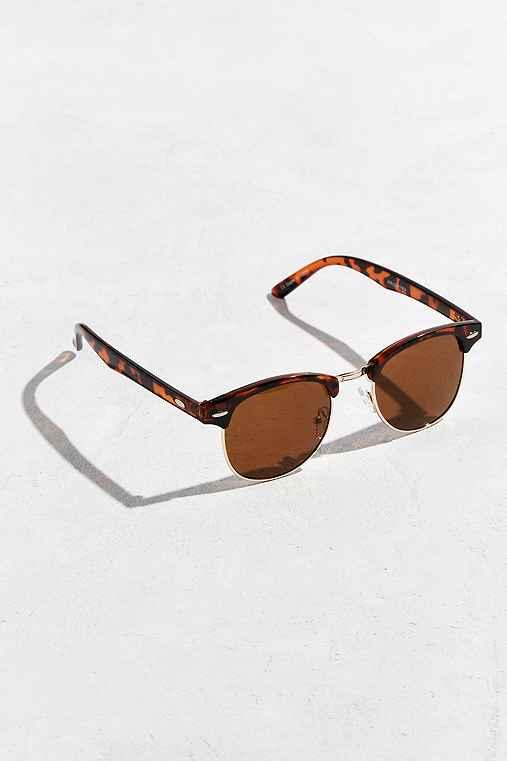 Mass Round Sunglasses,BROWN,ONE SIZE