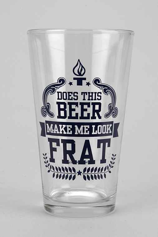 Frat Pint Glass