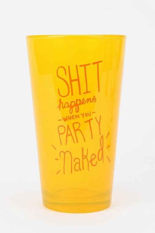 Party Naked Pint Glass