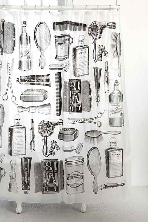 Apothecary Shower Curtain - Urban Outfitters