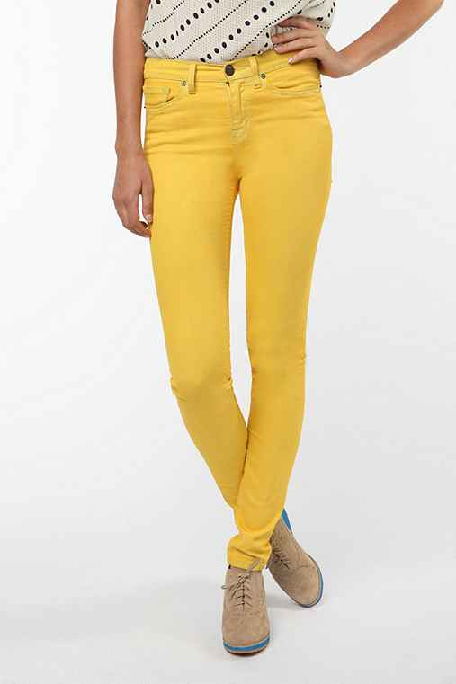 BDG - Cigarette High-Rise Jean in Yellow :  jeans colorful denim colored denim high rise jean