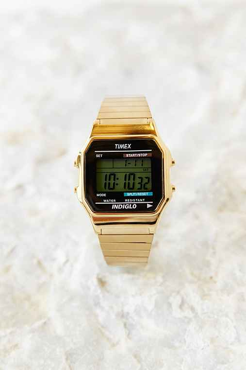 timex gold digital outfitters
