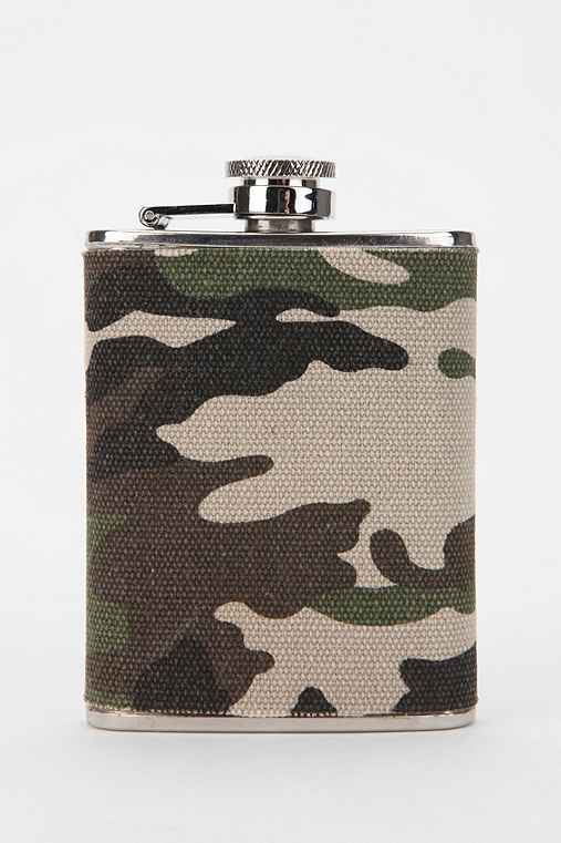 Camo Fabric Wrapped Flask