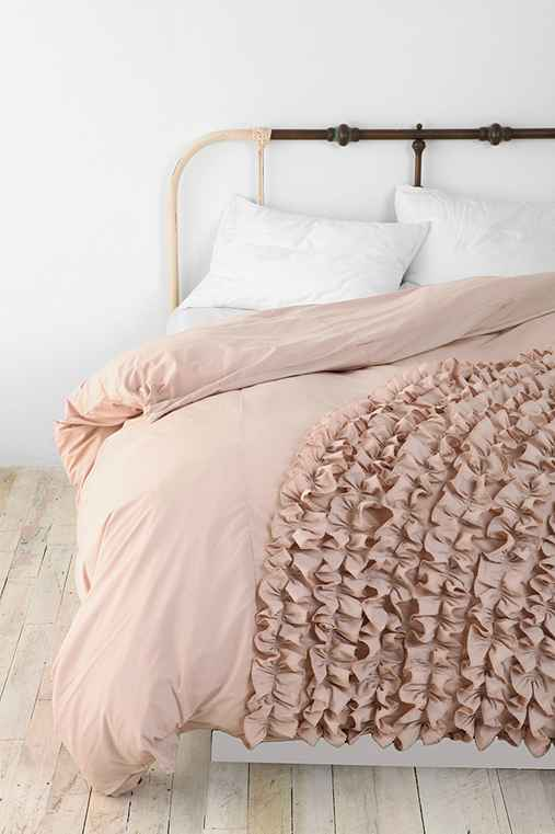Corner Ruffle Duvet Cover Urban Outfitters
