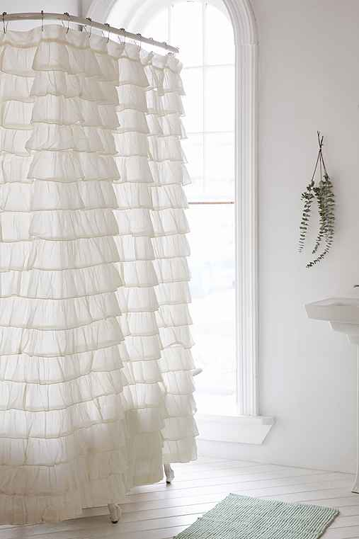 Thumbnail image for Waterfall Ruffle Shower Curtain
