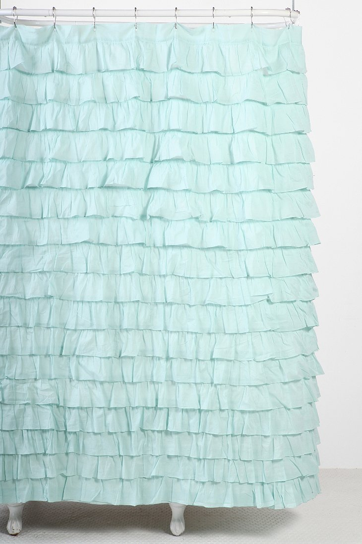 Waterfall Ruffle Shower Curtain Urban Outfitters