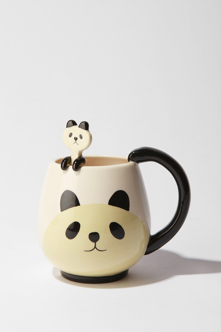 UrbanOutfitters.com > Panda Friends Mug & Spoon Set