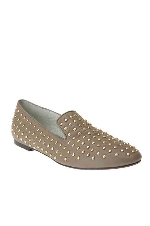UrbanOutfitters - Matiko Studded Leather Flat :  studded flats leather flat 14800 matiko studded leather flat womens shoes