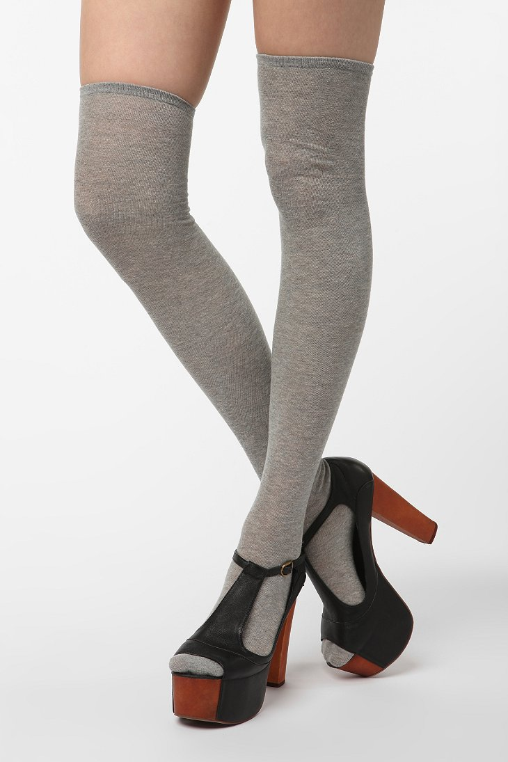 UO Heathered Thigh High Sock - Urban Outfitters