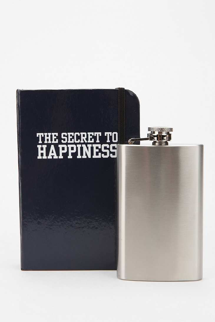 Secret To Happiness Book Flask