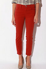 BDG Twill Grazer Cigarette Pant - Red