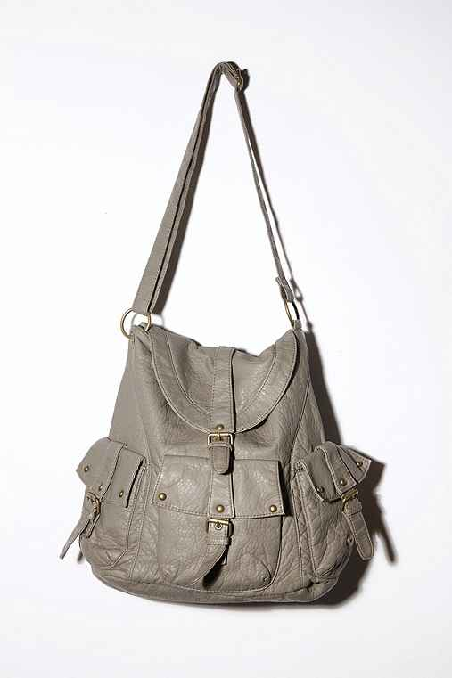 BDG Tri-Pocket Basic Buckle Satchel :  leather bag purse bdg bag bags