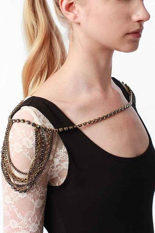UrbanOutfitters.com > Stone & Fringe Double Shoulder Jewelry