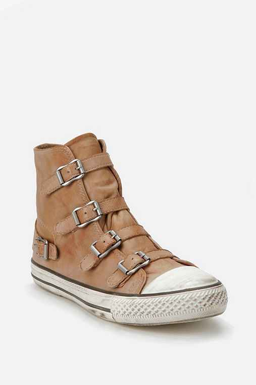 Ash Buckle Leather Hi Top Sneaker
