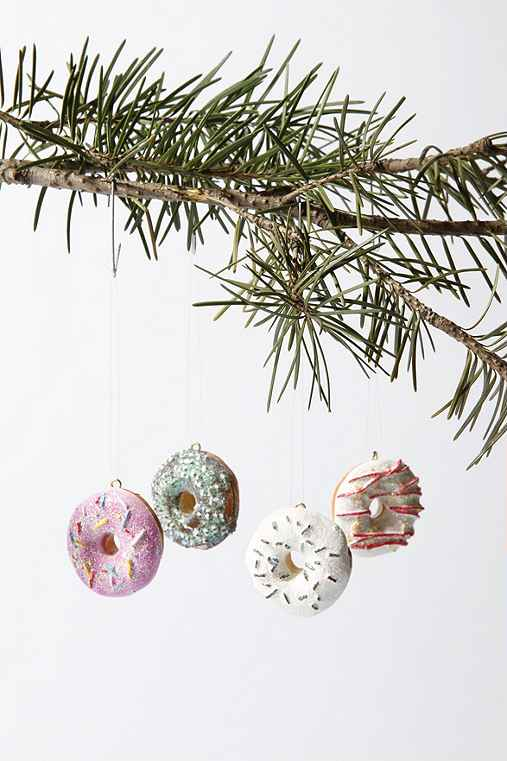Mini Donut Ornament Set :  mini donuts christmas tree decorations
