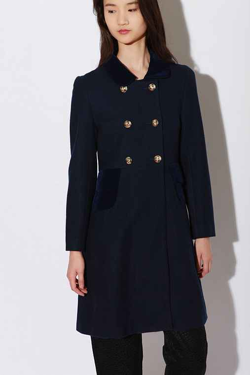 tba Peter Pan Collar Coat